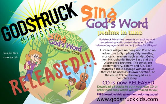 Sing Gods Word  Psalms in Tune CD has been RELEASED!!